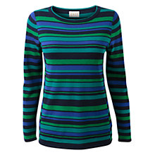 Buy East Adriana Stripe Jumper, Navy Online at johnlewis.com