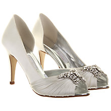Buy Rainbow Club Tivoli Satin Court Shoe, Ivory Online at johnlewis.com