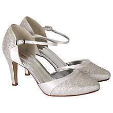 Buy Rainbow Club Thea Satin Court Shoes, Ivory Online at johnlewis.com