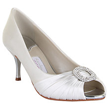 Buy Rainbow Couture Serafina Satin Court Shoes, Ivory Online at johnlewis.com