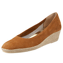 Buy John Lewis Audrey Wedge Sandals, Tan Online at johnlewis.com