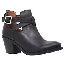 Buy Carvela Sam Leather Cut-Out Ankle Boots, Black Online at johnlewis.com