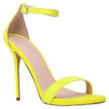 Buy Carvela Glacier Ankle Strap Statement Stiletto Sandals, Yellow Online at johnlewis.com