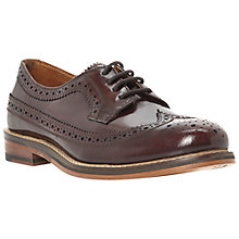 Buy Bertie Lessing Brogue Shoes, Burgandy Online at johnlewis.com