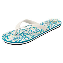 Buy Joules 150 Years Floral Print Flip-Flop Sandals Online at johnlewis.com