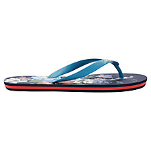 Buy Joules Jenny Flip Flops, Navy Floral Online at johnlewis.com