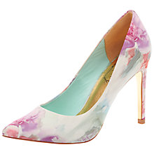 Buy Ted Baker Luceey Floral Print Court Shoes, Pink Online at johnlewis.com