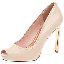 Buy Ted Baker Glister Peep Toe Court Shoes Online at johnlewis.com