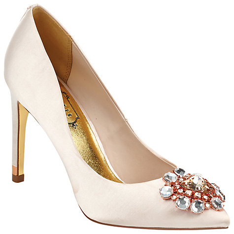 Buy Ted Baker Torela Court Shoes, Nude Pink Online at johnlewis.com