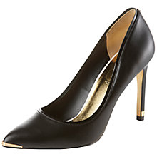 Buy Ted Baker Thaya Leather Court Shoes, Black Online at johnlewis.com
