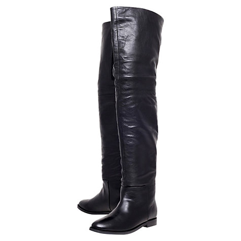 Buy KG by Kurt Geiger Vantage Knee High Boots, Black Online at johnlewis.com