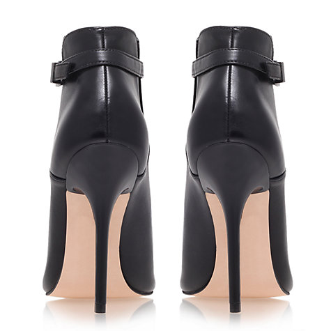 Buy Carvela Get Leather Stiletto Shoe Boots, Black Online at johnlewis.com