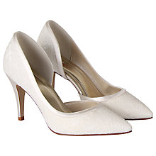 Buy Rainbow Club Esme Lace Court Shoes, Ivory Online at johnlewis.com