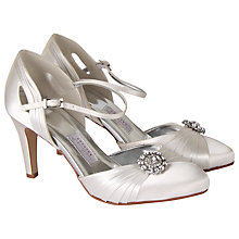 Buy Rainbow Couture Mariella Satin Court Shoes, Ivory Online at johnlewis.com