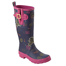 Buy Joules London Sights Rubber Wellington Boots, Pink Online at johnlewis.com