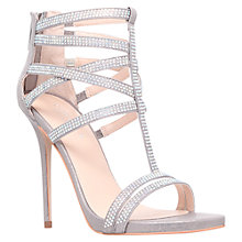 Buy Carvela Glaze Glittering Suedette Strappy Stiletto Sandals Online at johnlewis.com