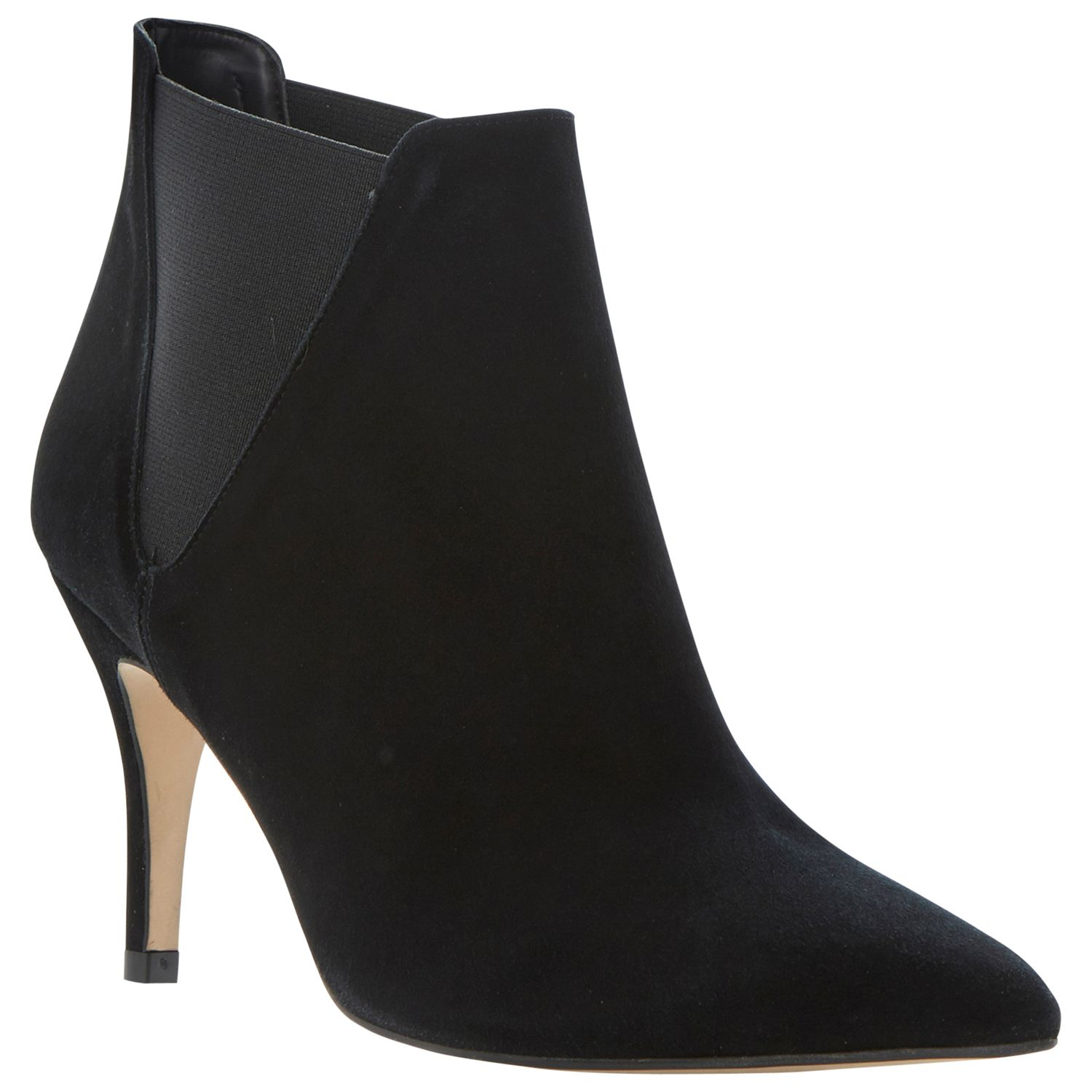 Dune Nightfall Suede Ankle Boots, Black
