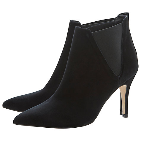 Buy Dune Nightfall Suede Ankle Boots, Black Online at johnlewis.com