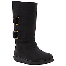 Buy Dune Raph Suede Crepe Sole Calf Boots, Black Online at johnlewis.com