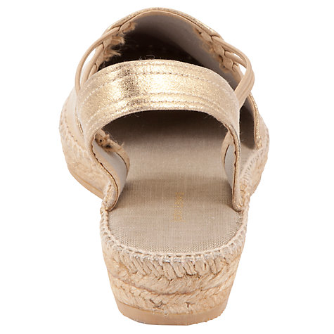 Buy John Lewis Nuria Sandals, Gold Online at johnlewis.com