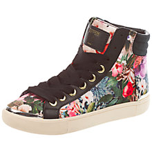 Buy Ted Baker Merip Hi-Top Trainers, Black/Multi Online at johnlewis.com