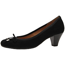 Buy Gabor Melton Suede Court Shoes, Black Online at johnlewis.com