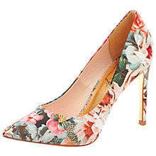 Buy Ted Baker Luceey Floral Print Court Shoes, Multi Online at johnlewis.com