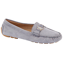 Buy Lauren by Ralph Lauren Carley Suede Monogrammed Loafers Online at johnlewis.com