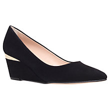 Buy Carvela Avenue Wedged Court Shoes, Black Online at johnlewis.com