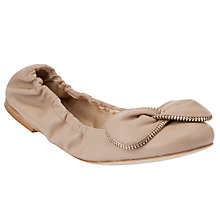 Buy See by Chloé Zipper Bow Ballerina Flat Pumps Online at johnlewis.com