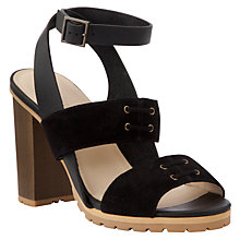 Buy See by Chloé Block Heeled Sandals, Black Online at johnlewis.com