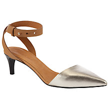 Buy See by Chloé Two Part Ankle Strap Kitten Heel Court Shoes Online at johnlewis.com