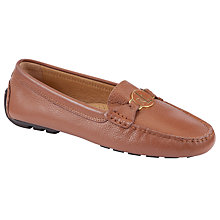 Buy Lauren by Ralph Lauren Carley Leather Monogrammed Loafers Online at johnlewis.com