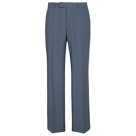 Buy Ben Sherman Tailoring Wool Mohair Check Trousers, Blue Online at johnlewis.com