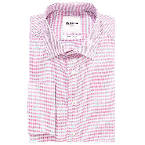 Buy Ben Sherman Tailoring Dobby Long Sleeve Shirt, Red Online at johnlewis.com