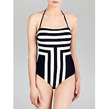 Buy Ted Baker Nevee Bandeau Swimsuit, Navy Online at johnlewis.com