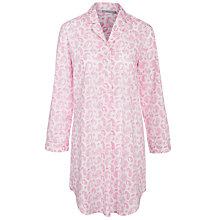 Buy John Lewis Paisley Nightshirt, White / Pink Online at johnlewis.com