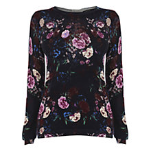 Buy Warehouse Marmont Print Jumper, Navy Online at johnlewis.com