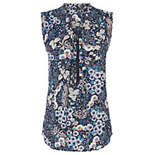 Buy Warehouse Zip Front Floral Tunic Top, Multi Online at johnlewis.com