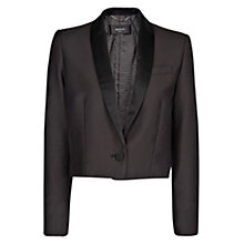 Buy Mango Cropped Tuxedo Blazer, Black Online at johnlewis.com