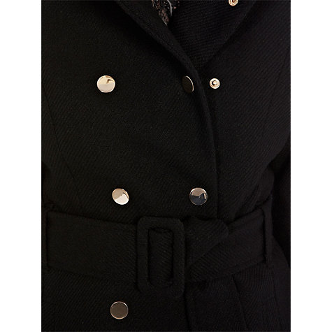 Buy Warehouse Heavy Twill Refer Coat, Black Online at johnlewis.com