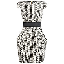 Buy Almari Contrast Waist Dress, Black/White Online at johnlewis.com