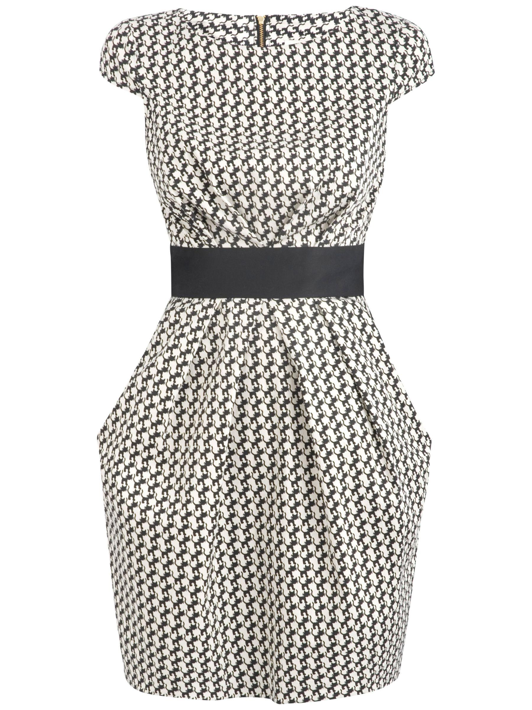 almari contrast waist dress black/white, almari, contrast, waist, dress, black/white, 8 14 10, women, womens dresses, special offers, womenswear offers, womens dresses offers, 931219