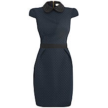 Buy Almari Embellished Colour Dress, Navy Online at johnlewis.com