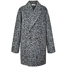 Buy Paisie Boyfriend Coat, Black/White Online at johnlewis.com