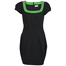 Buy Whistle & Wolf Contrast Neckline Dress, Black/Green Online at johnlewis.com