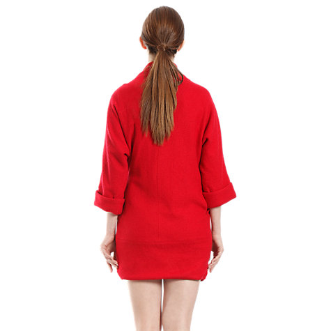 Buy Pasie Buckle Detail Coat, Red Online at johnlewis.com