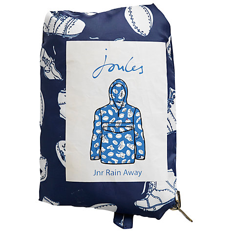 Buy Little Joule Boys' Rain Away Packa Jacket, Navy Online at johnlewis.com