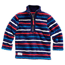 Buy Little Joule Boys' Woozle Stripe Fleece Online at johnlewis.com