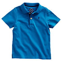 Buy Little Joule Boys' Junior Tom Polo Shirt, Blue Online at johnlewis.com